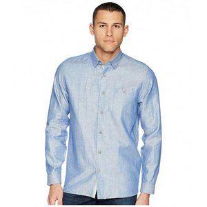 Ted Baker Linlins Linen Long Sleeve Slim Fit Shirt